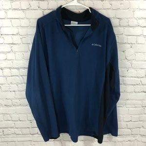 Columbia Pull Over Lightweight Zip Up Sweater XXL